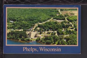 Bird's Eye View,Phelps,WI Postcard