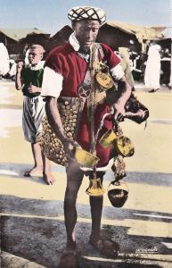 RP; Hand-colored, Scenes et Types, Marchand d'eau, Morocco, 1930s