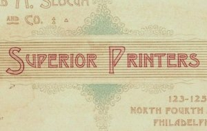 1870's-80's Engraved Superior Printers Alfred M. Slocum & Co. P197