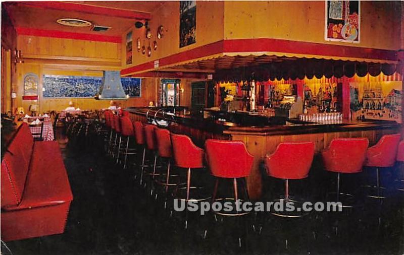 Chez Yvonne Restaurant Mountain View Ca Unused Hippostcard