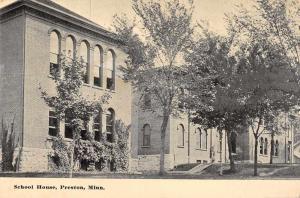 Preston Minnesota School House Antique Postcard J80480