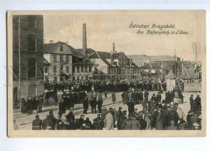 190640 WWI Latvia Liepaja LIBAU harbor square Vintage postcard
