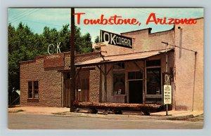 Tombstone AZ- Arizona, OK Corral, Scene of Earp Clanton Fight, Chrome Postcard