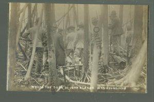 Baudette MINNESOTA RPPC 1910 DEAD BODY Search Party FOREST FIRE nr Spooner