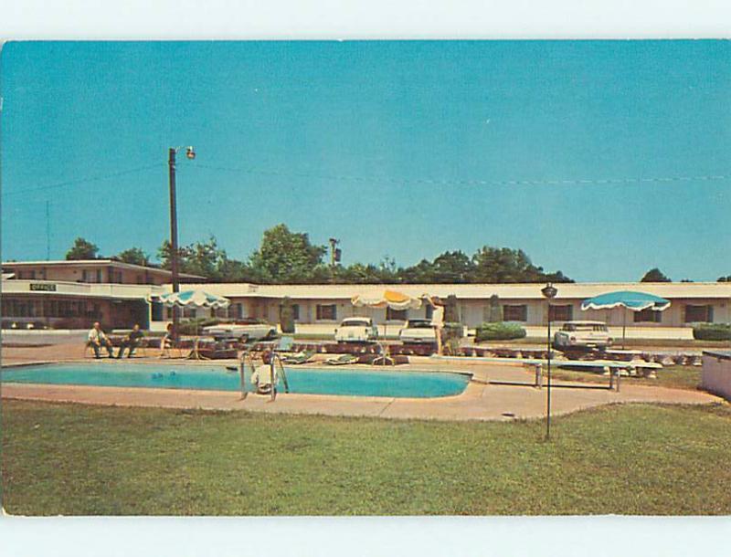 Unused Pre-1980 OLD CARS & UNIVERSITY PARK MOTEL & POOL Greenville SC u6728-13