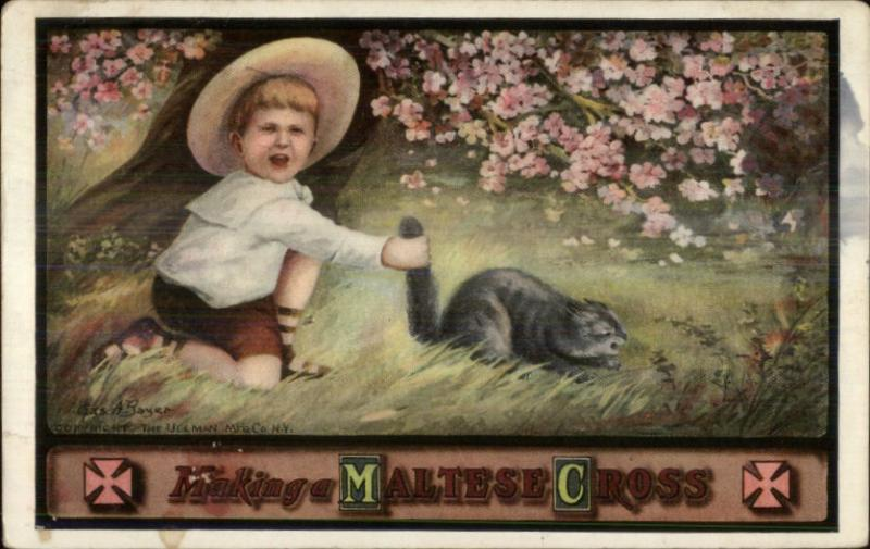 Boyo Grabs Cat By Tail Making A Maltese Cross Pun Comic C1910