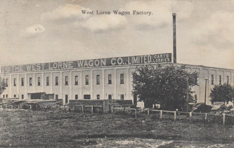 WEST LORNE , Ontario , Canada , 1908 ; Wagon Factory