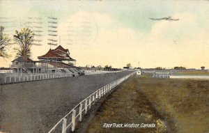 Windsor Ontario Canada birds eye view race track antique pc ZD686014