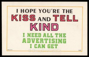 I Hope You're the Kiss and Tell Kind