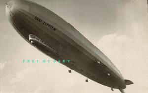 Circa-1929 Aviation Real Photo Postcard: Close-Up of Graf Zeppelin Underside