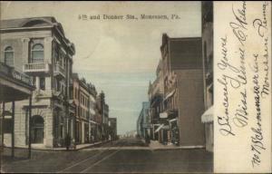 Monessen PA 5th & Donner c1910 Postcard