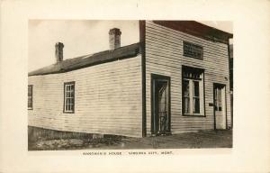 1930s RPPC Postcard; Hangman's House, Virginia City MT Madison County Unposted