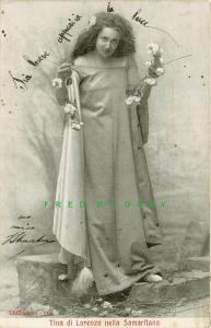 1900-1903 Alterocca Postcard: Actress Tina di Lorenzo Plays Samaritana