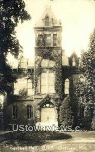 Real Photo, Corthell Hall Gorham ME Postal Used Unknown, Missing Stamp