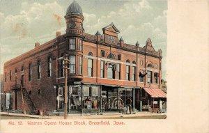 LP04 Opera House Greenfield  Iowa Postcard