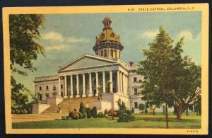 Postcard Used State Capital Columbia SC LB