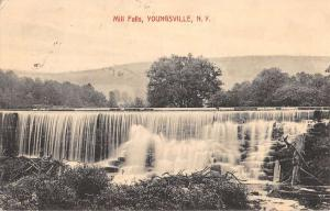Youngsville New York Mill Falls Scenic View Antique Postcard K61969