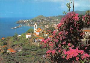 Portugal Funchal (Madeira) Vista Oeste Blick vom Westen Flowers General view