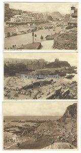 tb0247 - Devon - All of Various Beach Scenes around Ilfracombe - 3 postcards