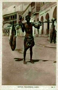 Yemen Aden Native Fisherman Postcard
