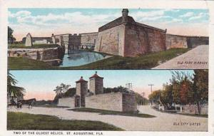 Florida Saint Augustine Two Of The Oldest Relics Old Fort Marion Old City Gat...