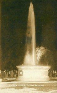 C-1910 Waite Memorial Fountain Salem Oregon RPPC Photo Postcard 20-40