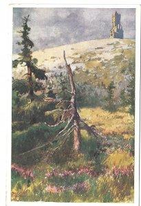 Altvater Sudeten Mountains Landscape Austria Deutscher Schulverein Wien Postcard