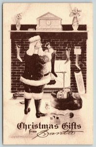 Christmas~Neat Hair Santa @ Fireplace~Suit Spots~EB Scofield Cobb Shinn?~Sepia