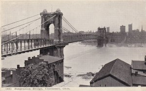 CINCINNATI, Ohio, PU-1910; Suspension Bridge