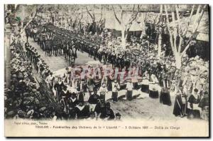 Old Postcard Toulon Funerals of victims of the clergy Liberte Defile