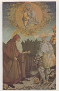 Pisanello The Virgin & Child With SS George National Gallery Painting Postcard