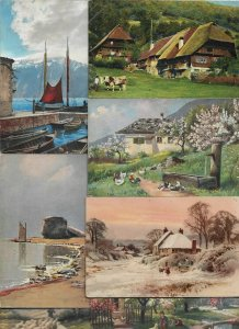 Artist Signed Postcard Lot of 50 With Mostly Landscapes 01.14