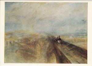 Postcard art Turner - Rain , Steam and Speed