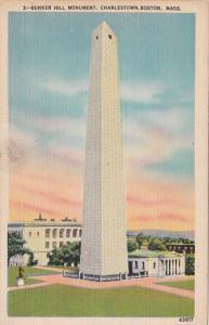 Massachusetts Boston Charlestown Bunker Hill Monument 1942