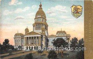 Capitol of Illinois Springfield, Illinois, USA Writing on back