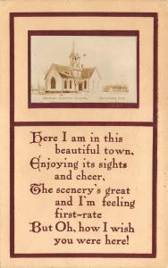 Stromburg Nebraska~Swedish Mission Church~Poem~Real Photo Postcard~1913 RPPC