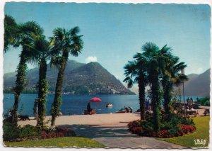 LUGANO-PARADISO, Vista su Castagnola e Monte Bre, used Postcard