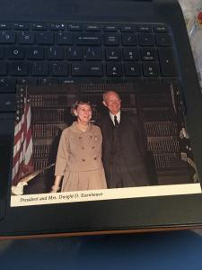 Vtg Postcard: President and Mrs Dwight D Eisenhower