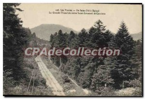 Old Postcard Saint Die Epinal Great Tranchee between St. Leonard and Corcieux