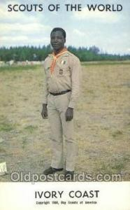 Ivory Coast Boy Scouts of America, Scouting Postcard, Post Cards, Copyright 1...