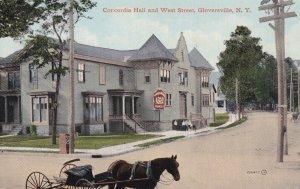 GLOVERSVILLE , New York , 00-10s ; Concordia Hall and West Street (dirt)