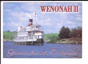 Wenonah III, Steam Ship, Gravenhurst Ontario, Large 5 X 7 inch Postcard