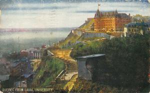Canada Quebec from Laval University Panorama Postcard