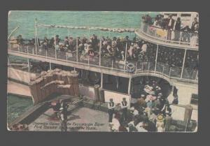 081363 USA Crowds Going on Excursion Boat for Coney Island N.Y