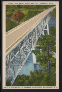 North Carolina colour PC High Bridge Little Tennessee River unused