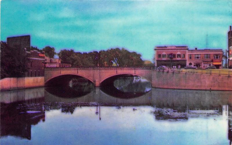 Nashua New Hampshire~Main Street Bridge~Trow News Agency Postcard