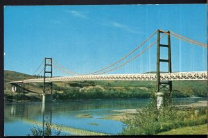 Alberta PEACE RIVER Dunvegan Suspension Bridge on Highway 2 - Chrome