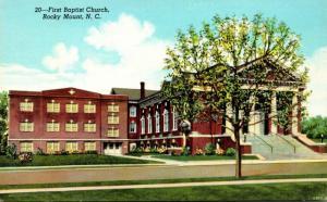 North Carolina Rocky Mount First Baptist Church Curteich