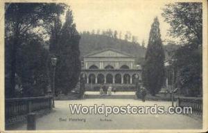 Bad Harzburg Germany, Deutschland Postcard Kurchaus Bad Harzburg Kurchaus