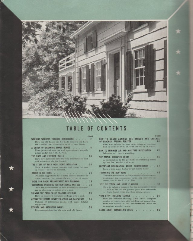 1940 Home Idea Book by John-Manville, Heavily Illustrated in Color and B&W